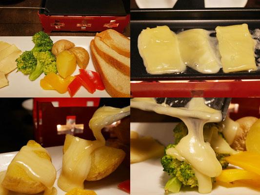 プロースト東京 コース ラクレットチーズと日替わり有機野菜のGRILL