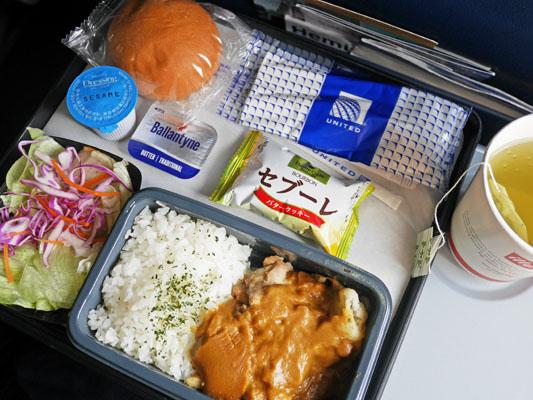 ユナイテッド航空 機内食 メニュー