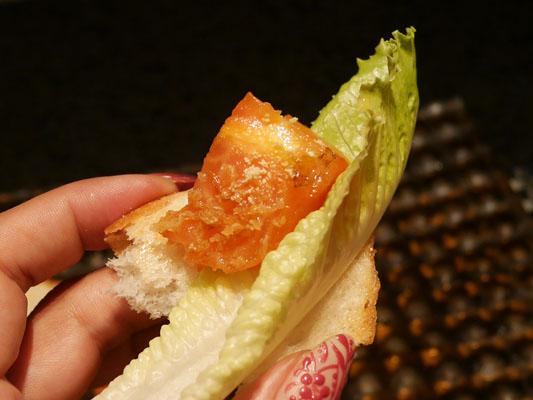 シェラトングアム 鉄板焼き スペシャルコース 桃太郎トマトのオレンジフランベ