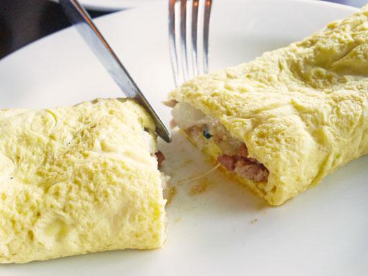 シェラトングアム 朝食 オムレツ オーダー