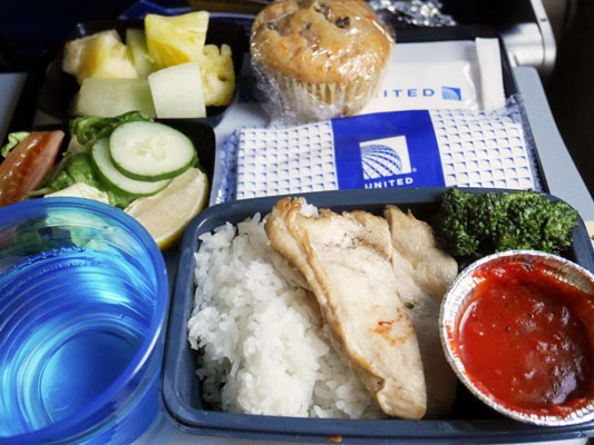 ユナイテッド航空 特別機内食 グルテンフリー食 メニュー 口コミ