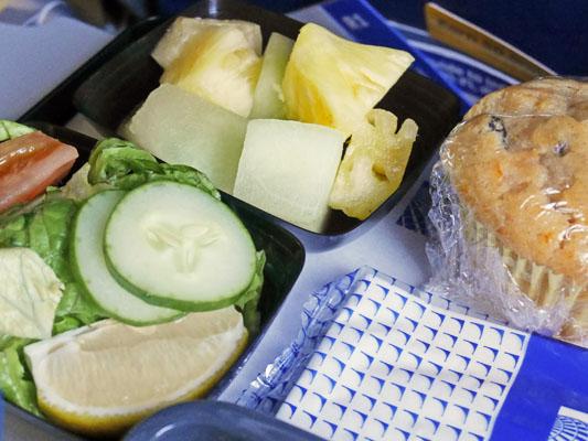 ユナイテッド航空 グルテンフリー食 内容
