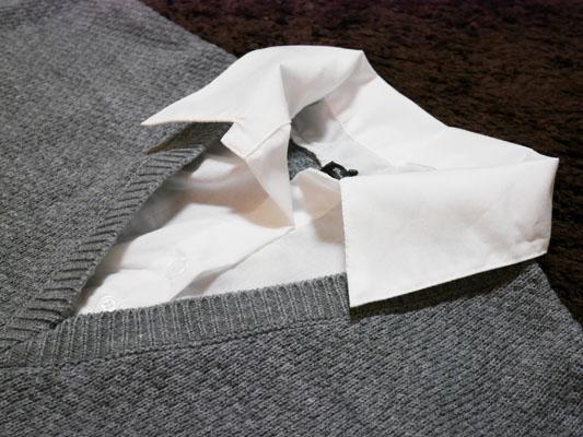 夢展望「シャツ重ね着風ダーリンVネックワンピース」サイズ感 口コミ 感想
