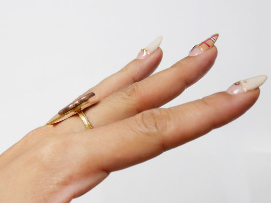 Q-pot.(キューポット ウインターコレクション 2017 リボンシーリング 指輪 ひっかかり