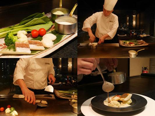 シェラトングアム 鉄板焼き スペシャルコース 魚料理