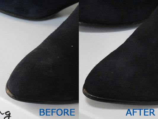 靴クリーニング くつリネット スエード靴 シミ落とし 口コミ ブログ
