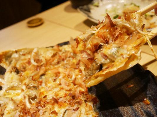 神田 居酒屋 蔵KOKORI 牡蠣と舞茸の湯葉ピザ