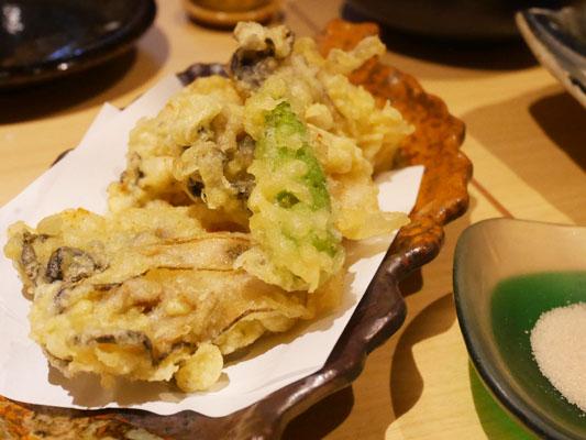 神田 居酒屋 蔵KOKORI 牡蠣の天ぷら