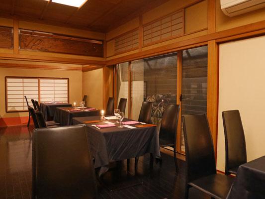 東銀座 和食 料亭レストラン 花蝶 店内 雰囲気