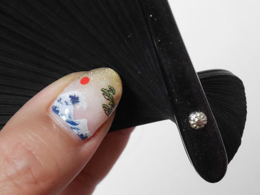 北斎 富嶽三十六景風ネイル japanese nail art