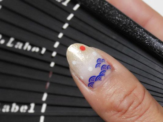 青海波ネイルデザイン japanese nail art
