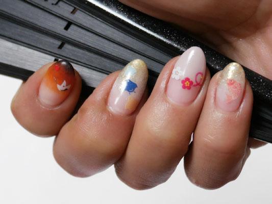 和風ネイル 縁起が良い japanese nail art
