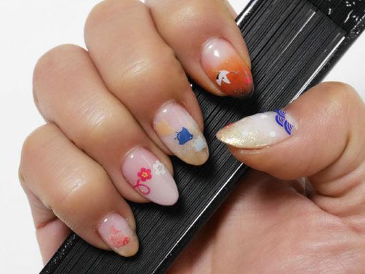 幸福ネイル 縁起物 新春ネイル japanese nail art