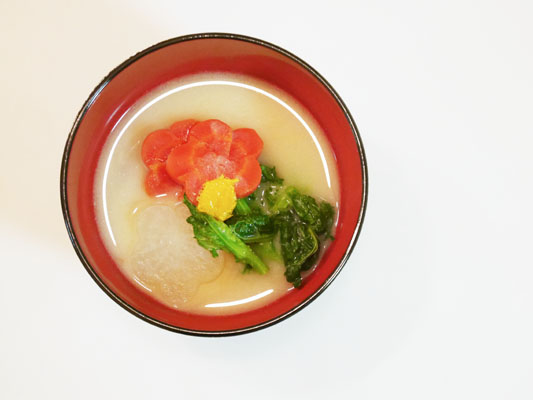 お正月料理 関西風 白味噌のお雑煮
