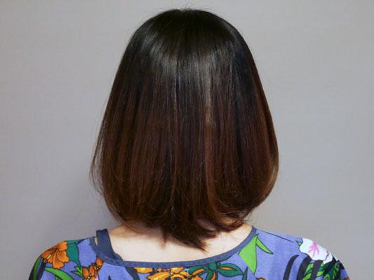 ミネコラ使用 直毛の友人