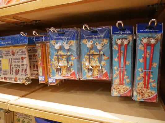 東京ディズニーランド・シー パークフードグッズ ミッキーポップコーンのお箸とスプーン&フォーク