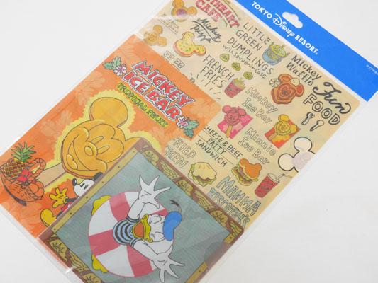 東京ディズニーランド・シー パークフードグッズ クリアホルダー
