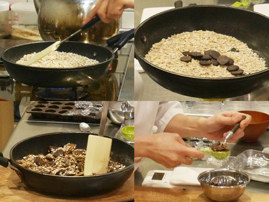 スマートスナッキング 低糖質チョコクランチを作る