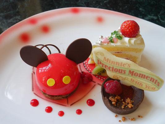 東京ディズニーランドホテル ミニーのアフタヌーンティー デザートプレート