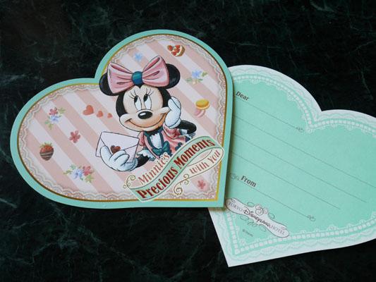 東京ディズニーランドホテル ミニーのアフタヌーンティー ミニーのメッセージカード付き