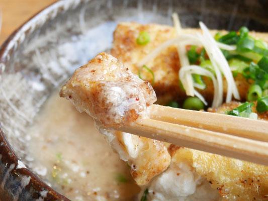 箱根ランチ 山薬 単品料理 揚げ出し豆腐の自然薯あんかけ