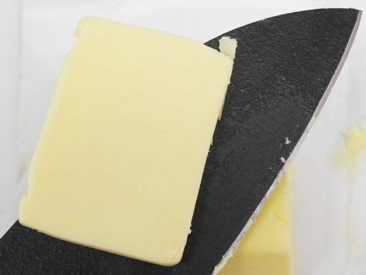 バターの刃離れがいい包丁 加工