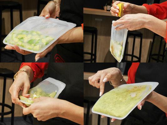 シリコンバッグ stasher(スタッシャー)ワカモレレシピ