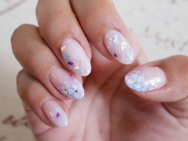 6月のネイル 紫陽花ネイル