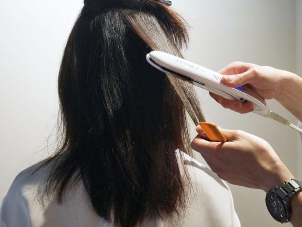 美髪専門サロン RESALON 表参道 トリートメントの仕上げ