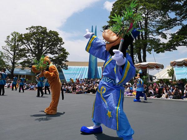 東京ディズニーランド 七夕グリーティングパレード 鑑賞レポ グーフィー 決めポーズ