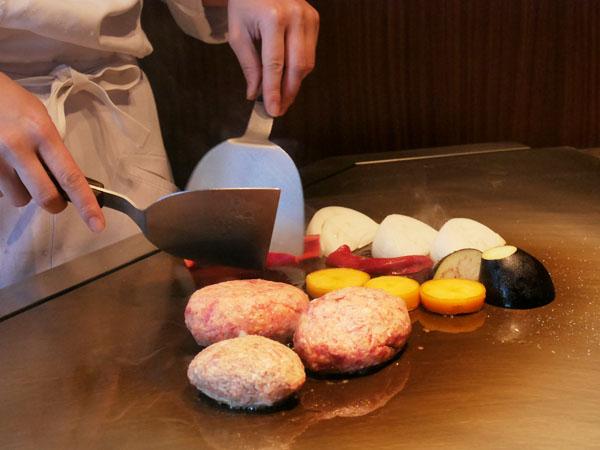 神戸オリエンタルホテル 鉄板焼きランチ コース ハンバーグ