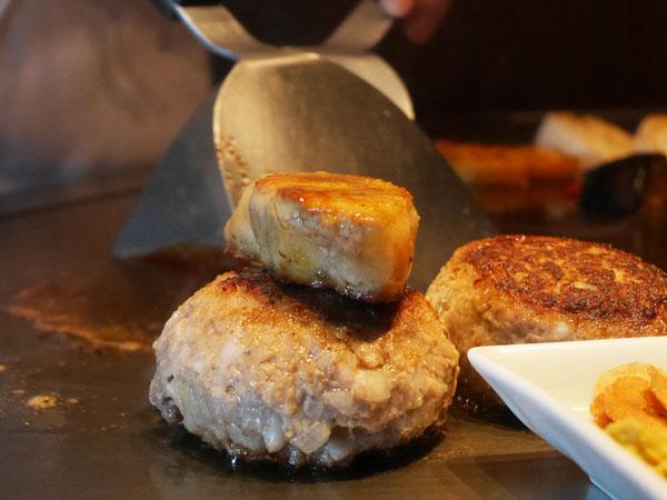 神戸オリエンタルホテル 鉄板焼きランチ コース フォアグラ&ハンバーグ