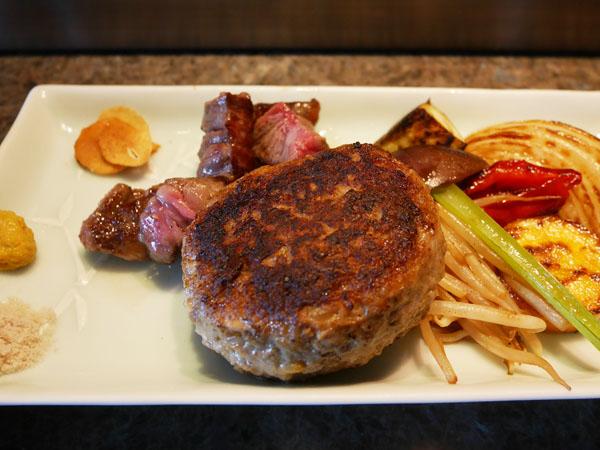 神戸オリエンタルホテル 鉄板焼きランチ ハンバーグ&ステーキランチ