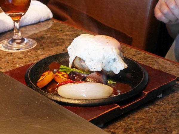 神戸オリエンタルホテル 鉄板焼きランチ フォアグラ&ハンバーグランチ