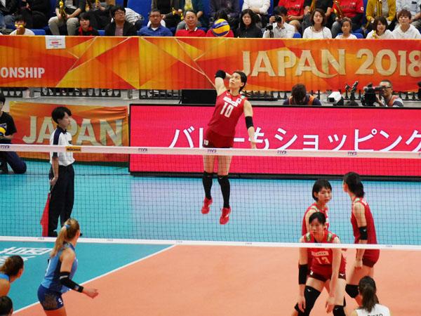 2018世界バレー女子大会 日本対アルゼンチン戦