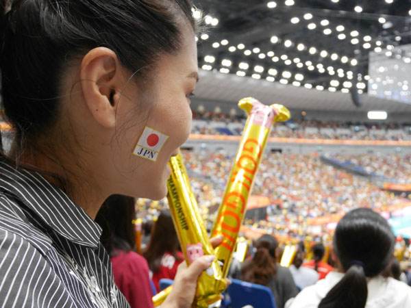 2018世界バレー女子大会 日本対アルゼンチン戦 応援