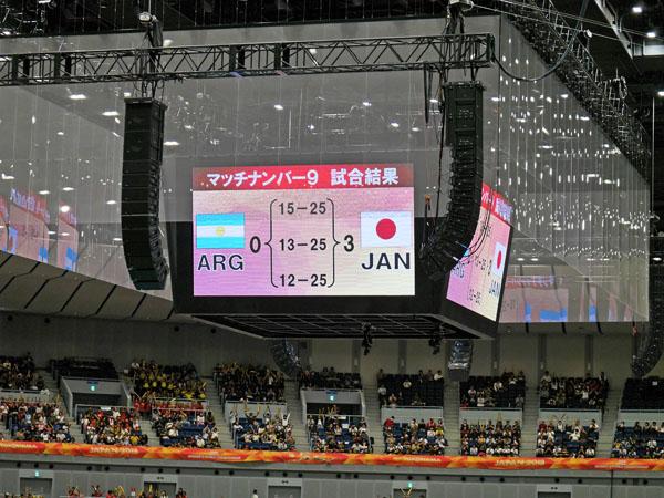 2018世界バレー女子大会 日本対アルゼンチン戦 試合結果