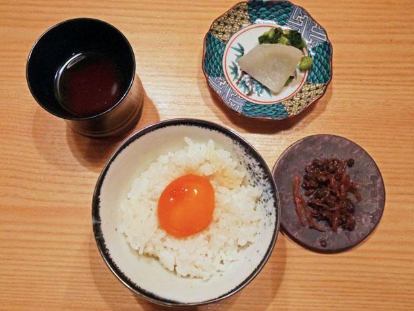 本郷三丁目 焼肉 肉亭ふたご コース料理 卵かけご飯