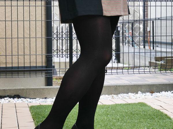 トレイン「カラーティント ブラックタイツ」履いてみた