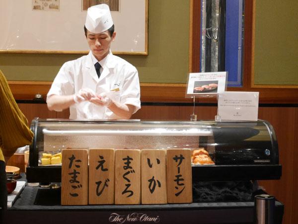 ホテルニューオータニ幕張 ランチブッフェ 握り寿司