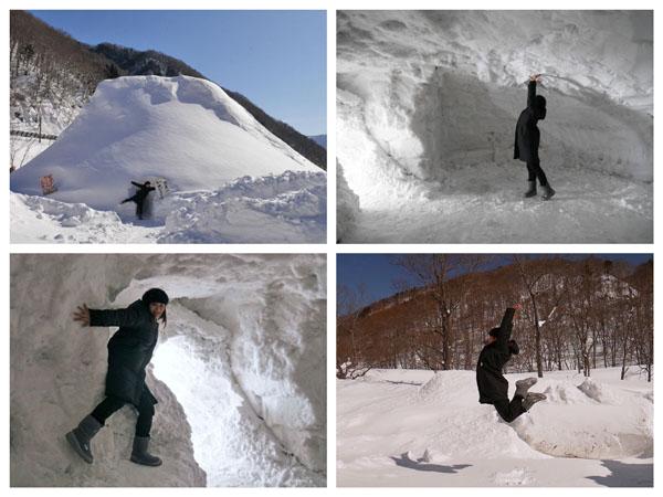 冬の水上 群馬 温泉ホテル 谷川岳ドライブイン 関東一 谷川大かまくら 大きさ