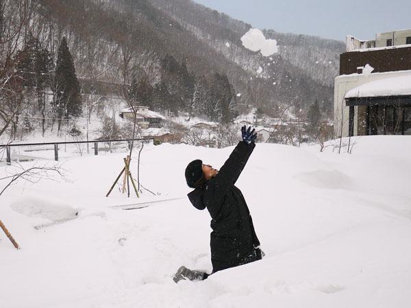 冬の水上 群馬 温泉ホテル みなかみホテルジュラク 水上温泉 雪遊び