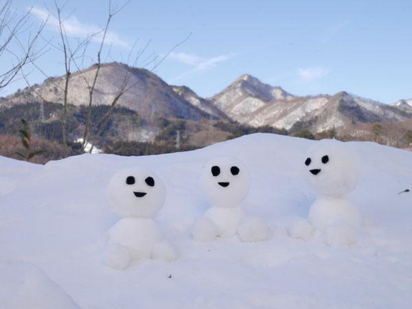 冬の水上 群馬 温泉ホテル みなかみホテルジュラク 雪だるま