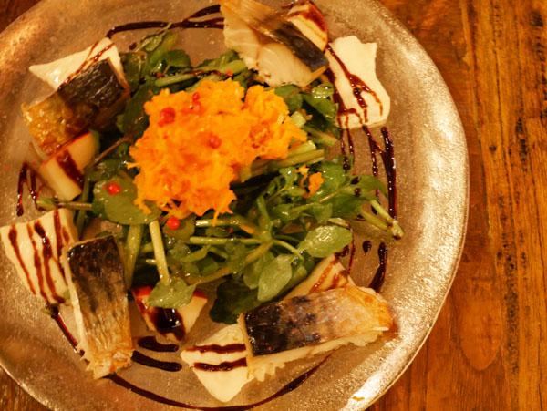 六本木 フレンチ ビストロチック 六本木店 焼き鯖とクレソンのサラダ