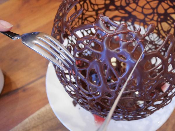 群馬・みなかみ 山カフェ ボサノバ ドーム型チョコレート フォンダンショコラ ショコラバー