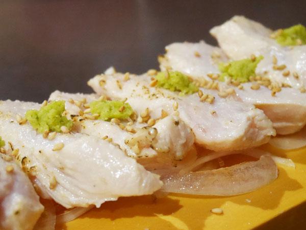 錦糸町・マッスル居酒屋たんぱくしつ 炙り鶏むね刺し