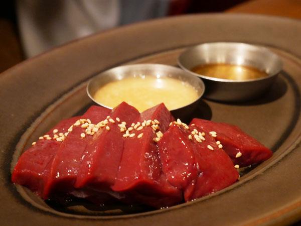 人形町 焼肉 TO-KA HANARE 極上炙りレバー