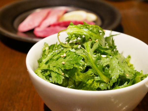 人形町 焼肉 TO-KA HANARE 春菊のナムル