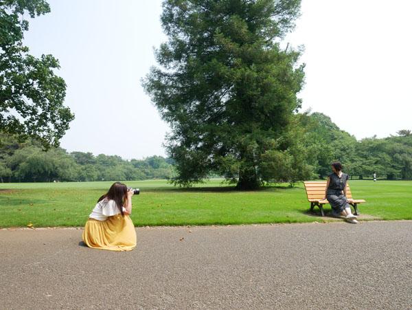 新宿御苑で撮影 るき千春さん