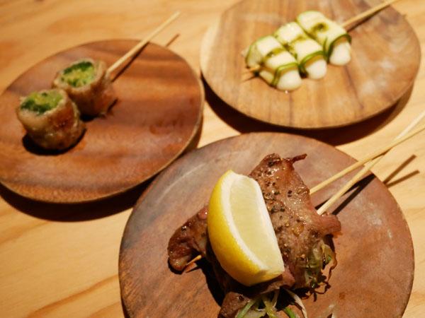 渋谷で博多串焼き・野菜巻き串「どげんね」野菜巻き串